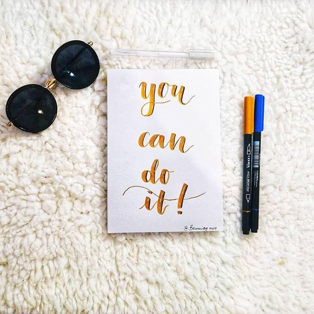 Mensaje escrito con letras de lettering